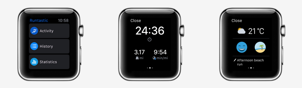 Misfit Apple Watch app