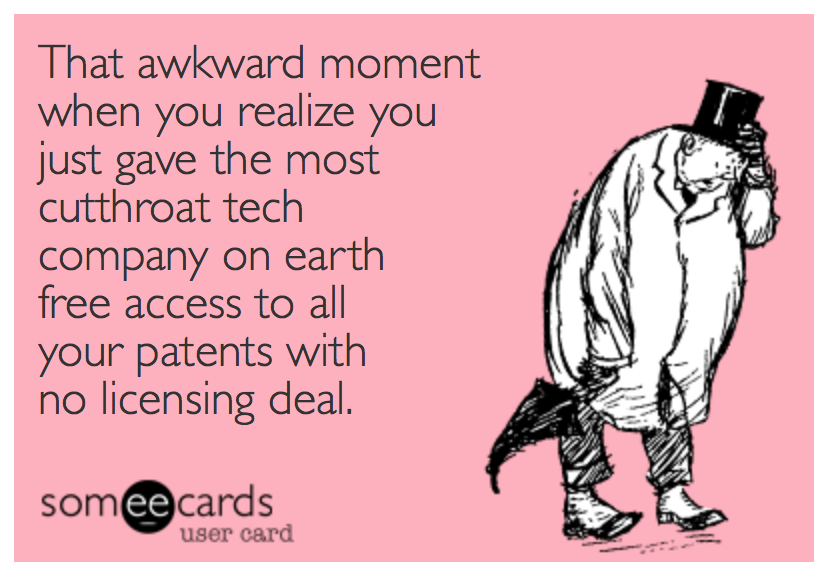 that awkward moment apple stole your patent