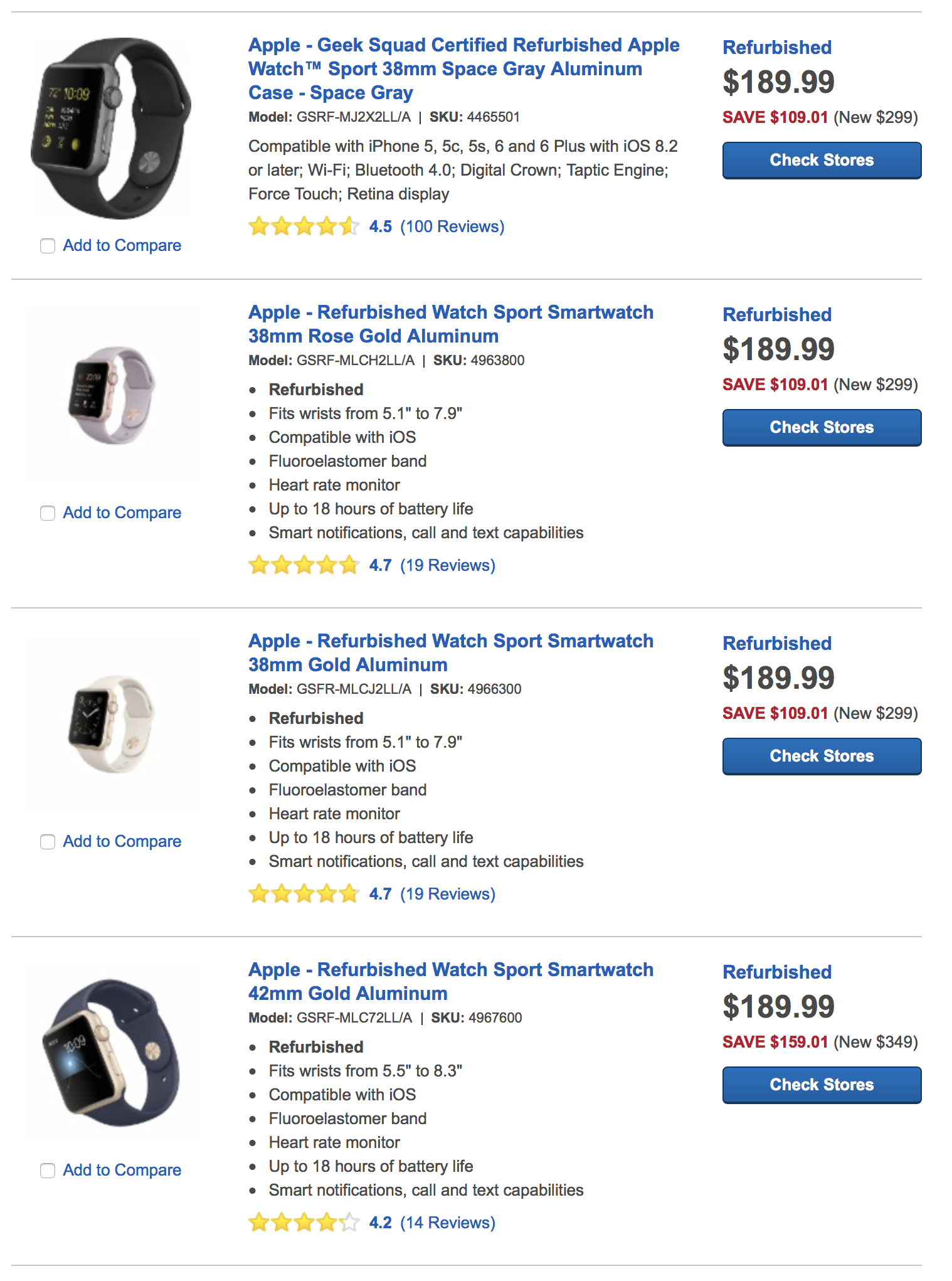 apple watch best buy 189
