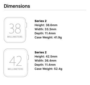 apple watch series 2 tech specs