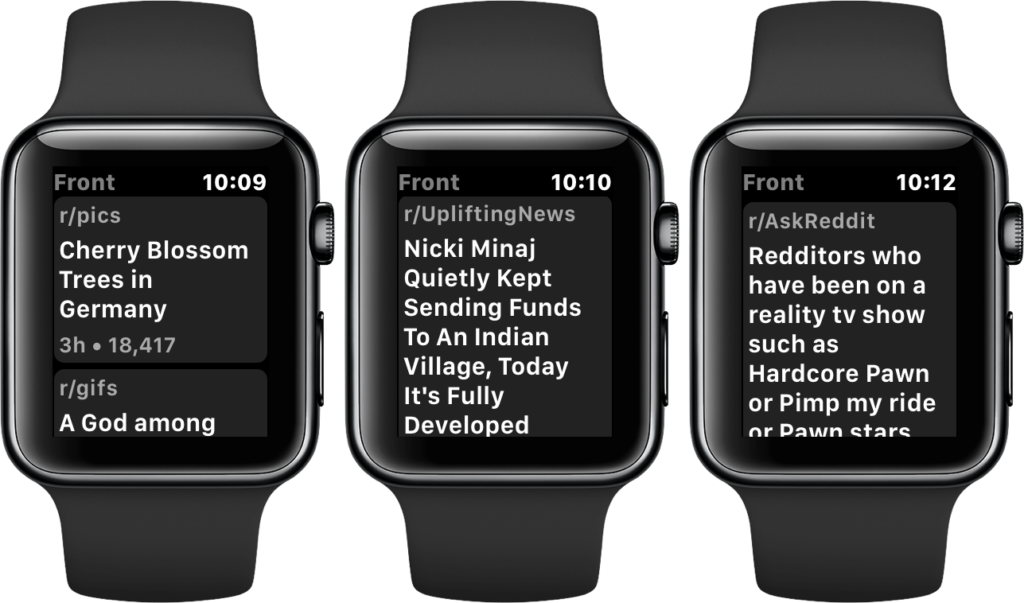 monochrome for reddit functions on the apple watch watchaware