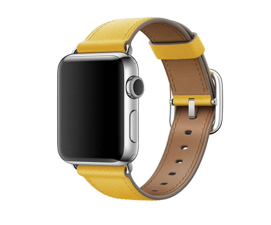 apple watch band summer sunflower leather