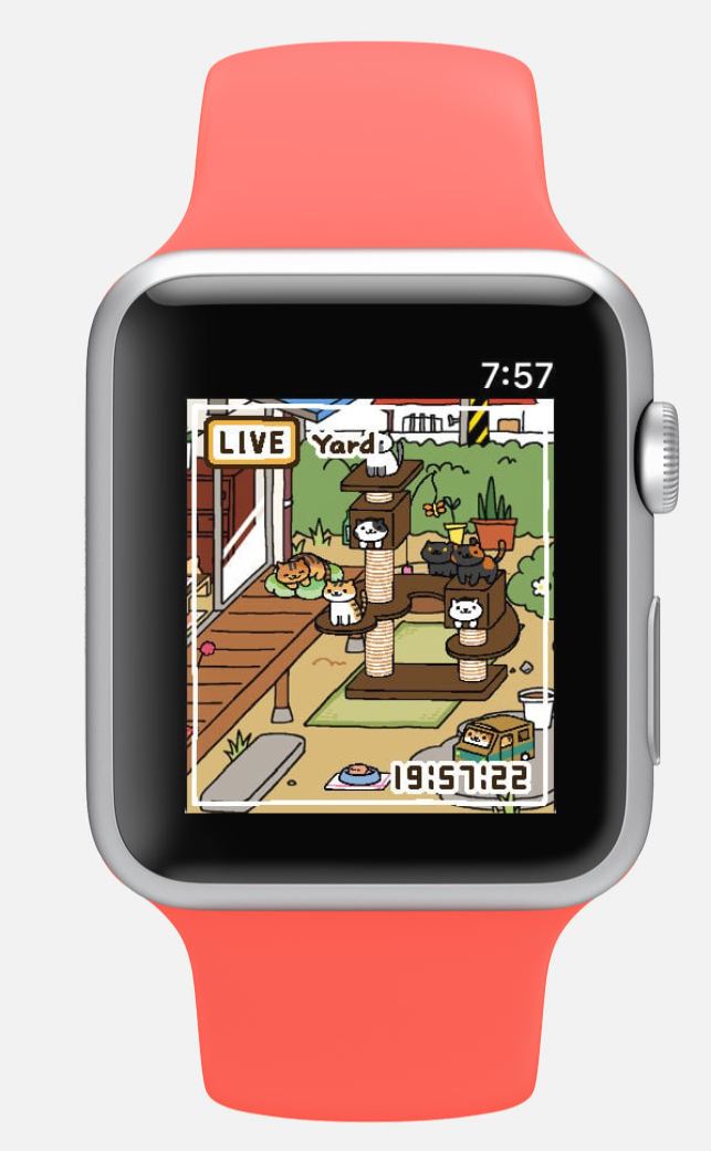 Watch Kittens Play on your Apple Watch with Neko Atsume