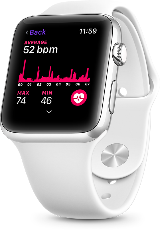 Heart rate tracking on Apple Watch to track sleep
