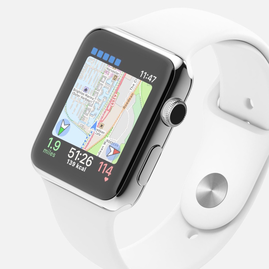 maps on apple watch workoutdoors second compass