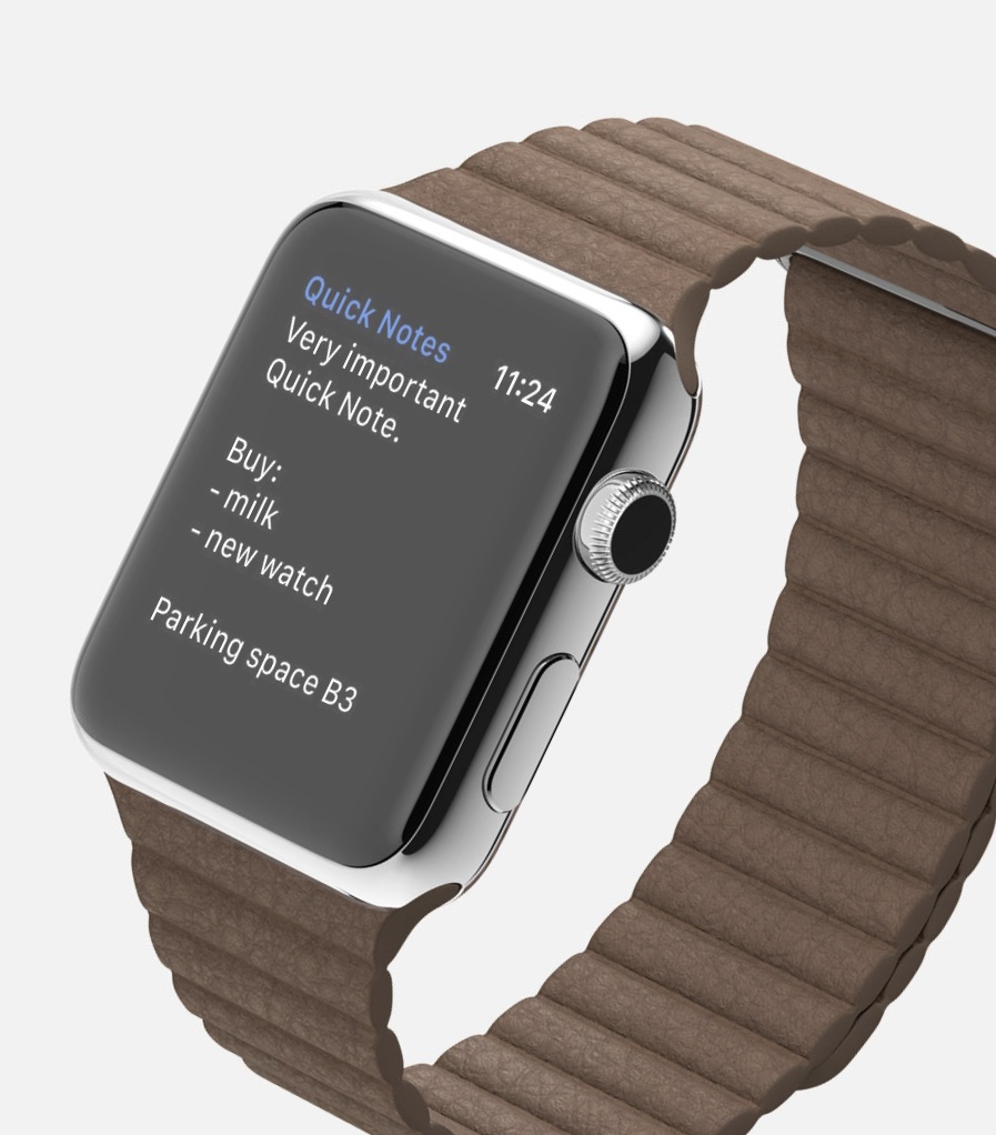 Quick Notes on Apple Watch - Dictating Notes on Apple Watch