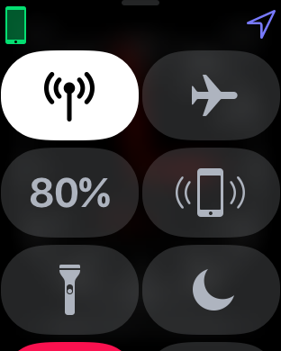control center new button - apple watch signal meter doesn't always appear
