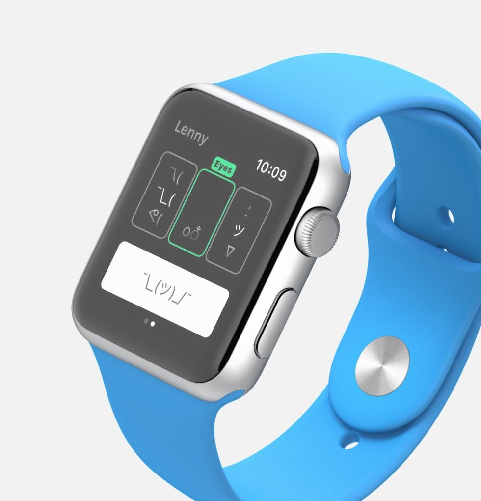 Lenny Unicode faces on Apple Watch