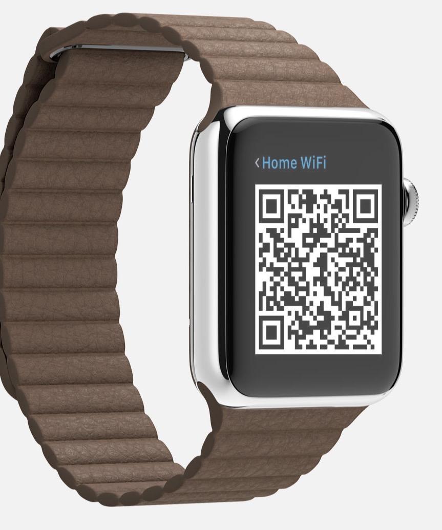 qr codes on apple watch