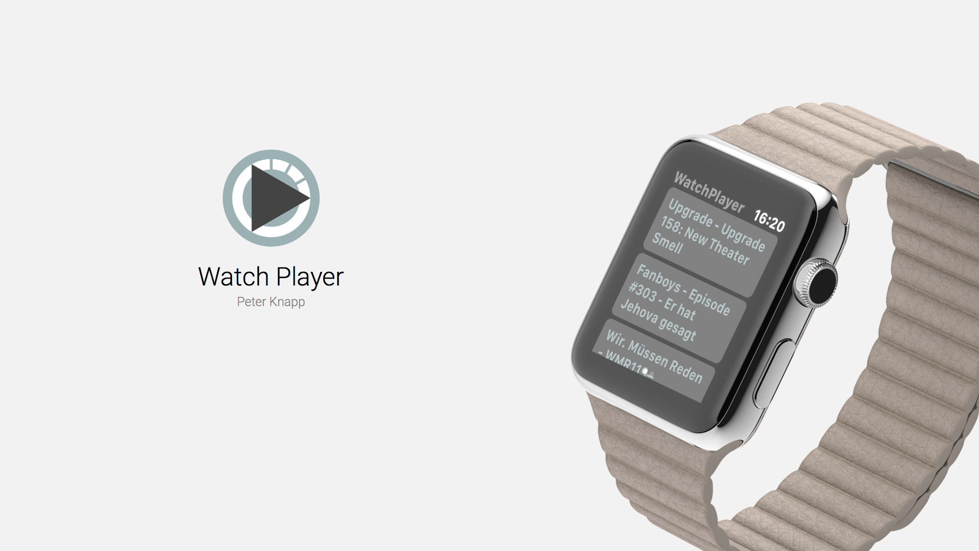 Watch Player Plays Your Podcasts Straight From Apple Watch